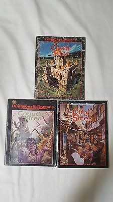 Advanced Dungeons & Dragons City Castle Country Sites TSR LOT 3 AD&D