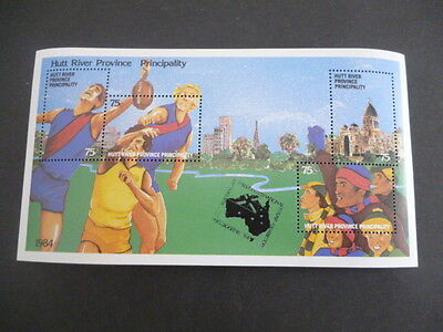 hutt river 1984 OLYMPICS   mnh mini sheet cancelled Melbourne