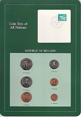 Coins of All Nations Set - Ireland - 6 Coins 1980-82