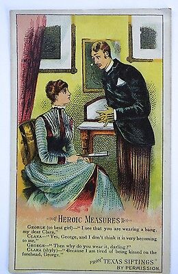 Victorian Trade Card Arbuckles Aroisa Coffee Heroic Measures from Texas Siftings