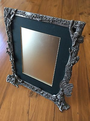 Pewter fairy frame and mirror