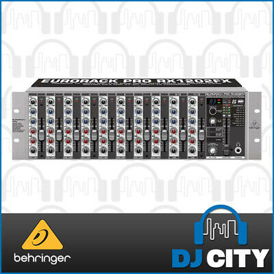 Behringer RX1202FX Rackmount PA Band Mixer 12 Channel w/ Digital FX