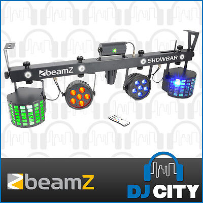 Beamz ShowBar LED DJ Effect w/ Laser, Strobe, LED Parcan, Derby inc. IR Remote