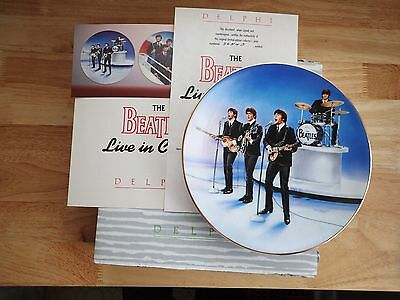 The Beatles Live in Concert - Delphi 1991 First Issue Collectors Plate
