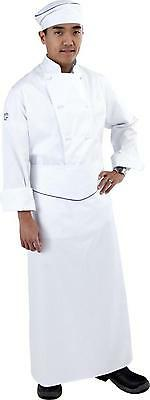 100% Cotton Executive White Long Sleeve Traditional Chef Jacket