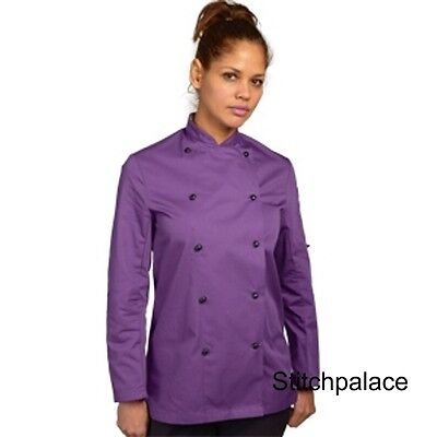 Denny's Technicolour Chef Jacket Purple & 10 other Colours Available XS-2XL