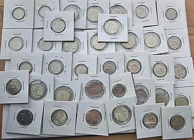 37 Canada Coin Set – Canadian 25 Cents 5 Cents Nickels 10 Cents - Great Conditio