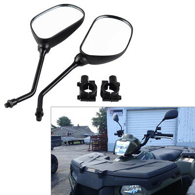 M10 Universal Motorcycle Rearview Rear View Wing Mirror with Mount Adapter Clamp