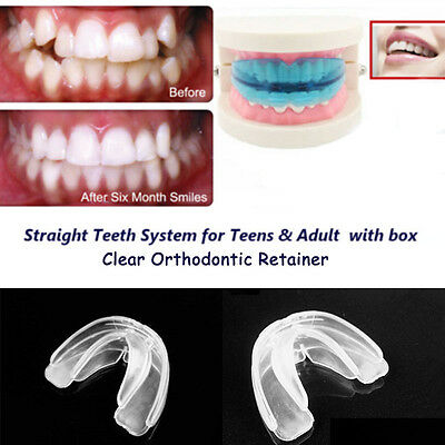 Pro Orthodontic Straight Teeth System for Teens & Adult / A blue retainer + Box