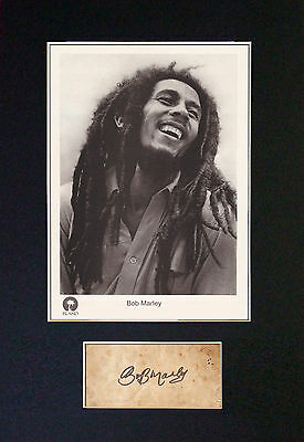 BOB MARLEY MEMORABILIA - Collectors Autograpgh & Photo + FREE WORLDWIDE SHIPPING