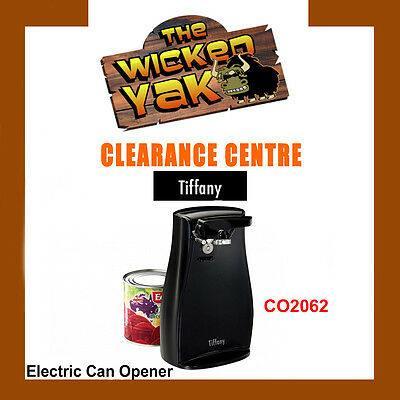 Tiffany Electric Can Opener & Knife Sharpener Auto Shut Off-CO2062 FREE SHIPPING