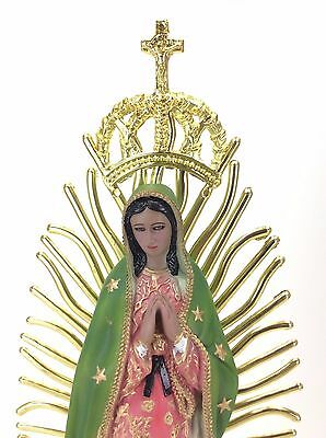 Virgen De Guadalupe, Our Lady Of Guadalupe HAND MADE IN MEXICO STATUE 21 INCH