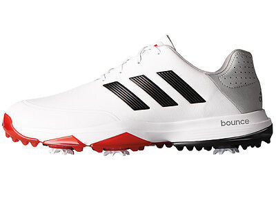 Adidas Adipower Bounce Golf Shoes - White/Black/Scarlet