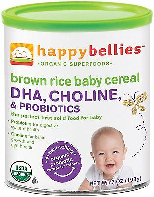Happy Family happy bellies Baby Cereal - Brown Rice - 7 oz