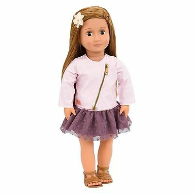 """New Our Generation Vienna 18"""" doll Brown Hair Brown Eyes Fits American Girl"""