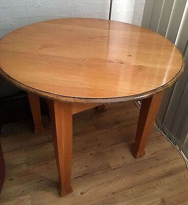 Vintage/antique solid Kauri Pine oval dining table