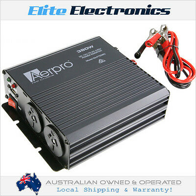 Aerpro Fts380 380W Watt 12V-240V Power Inverter With 1A Usb Charging Socket Car