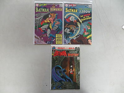 Brave And The Bold 3 Issue Silver Comic Lot 70 71 93 Dc Batman Dover Adams