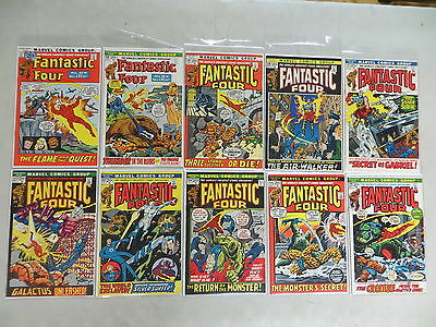 Fantastic Four 10 Issue Bronze Comic Run 117-126 Marvel Dover Hi Grade