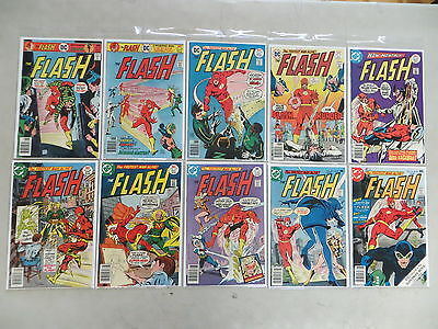 Flash 10 Issue Bronze Comic Run 243-252 Dc Neal Adams Dover High Grade