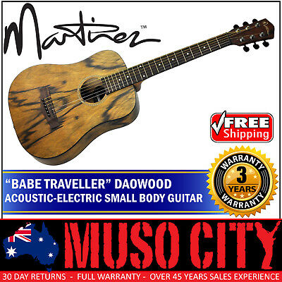 New Martinez Daowood Acoustic-Electric Babe Travel Guitar with Pick-Up