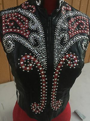 Stunning Vest Loaded With Crystals