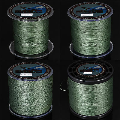 Green 300-1000M Imported Dyneema Spectra PE Braided Fishing Line Salt/Freshwater