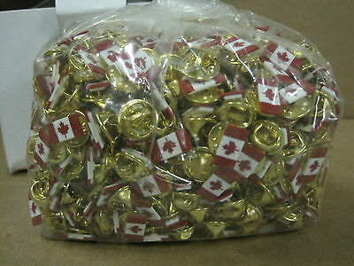 "Lot of 20 Canada Flag Hat Lapel Pin Pins Maple Leaf Pinback  1/2"" x 1/4"""
