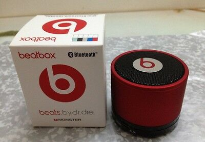 *NEW in BOX* PORTABLE HD MUSIC Stereo Mini Bluetooth Speaker(-Red--)