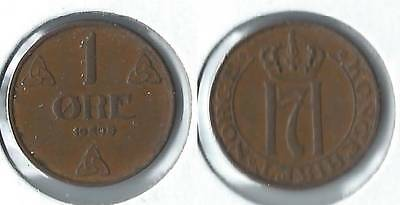 1940 Norway 1 ore coin
