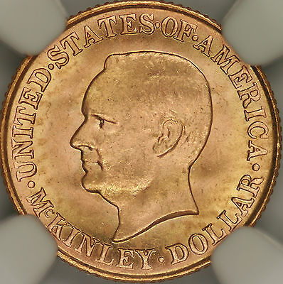 1917 McKinley Commem G$1 NGC MS64