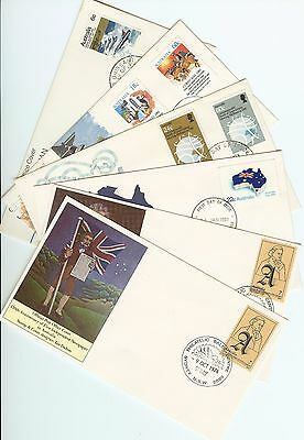 1970's/80's Australian first day covers- Six covers from this era all clean/fine