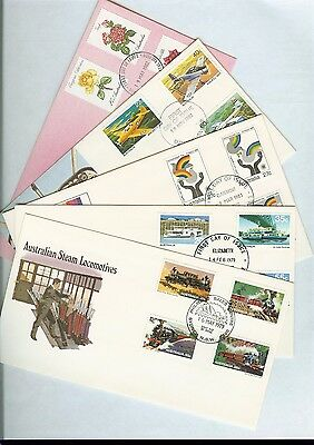 1979 - 80's, Five Australian first day covers - mixture of interesting issues