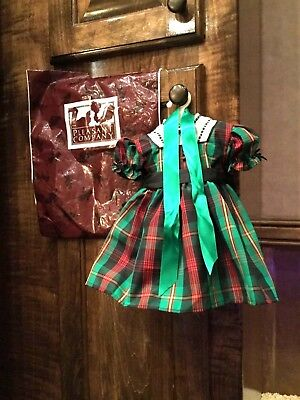 American Girl Doll Addy Retired Pleasant Company Christmas Dress Ribbon PC