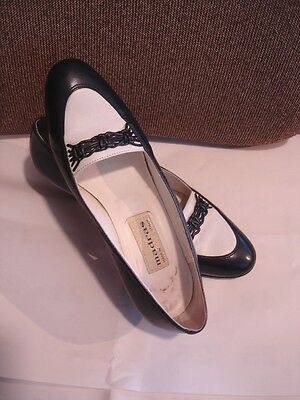 Authentic vintage 80s leather shoes navy/white 36 ½ Madras, iconic Italian label