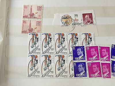 Spain Denmark & UK used and nhm stamps in stockbook needs sorted out