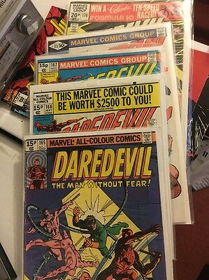Frank Miller Daredevil Comic Lot 165,166,167,173,176