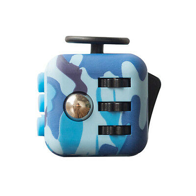 2017 New Fidget Cube Anxiety Stress Relidf Focus 6-side Gift Camouflage Tools