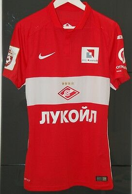 Spartak Moscow (Russia) Match Worn Home Shirt Season 2015-16 Popov Bulgaria