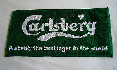 New Carlsberg Lager Bar Towel - Not Quite Perfect