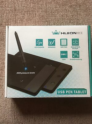 "HUION H420 Art Graphics Drawing Tablet Pad 4"" x 2.23"" USB for Windows Mac OS UK"