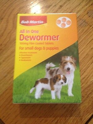 bob martin all in one dewormer 4 tablets