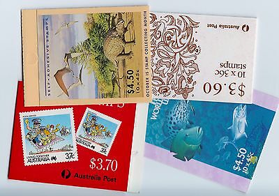 AUSTRALIAN STAMP BOOKLETS SELECTION AS ISSUED  X 8 Below Face Value !! 2 Scans