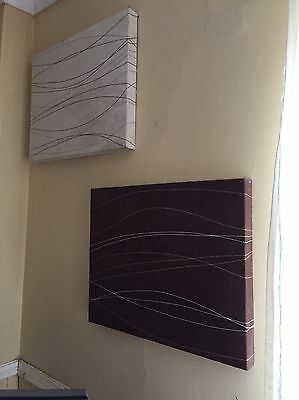 Wall art Canvas Suede Effect X 2