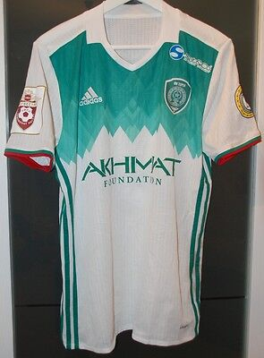 Terek Grozny (Russia) Match Worn Home Shirt Russian League Season 16-17 Unwashed