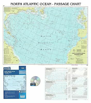 CARTA NAUTICA - NORTH ATLANTIC OCEAN - PASSAGE CHART - reptoi -