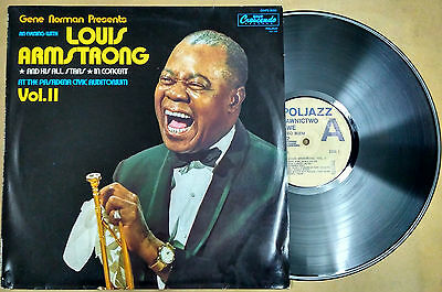 Louis Armstrong, Pasadena Civic Auditorium, 1956, LP, 33RPM, PollJazz