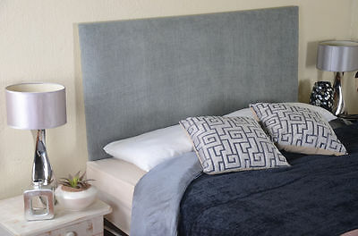 Plain Designer Headboard Bed Head In Leather, Chenille, Suede, Crushed Velvet
