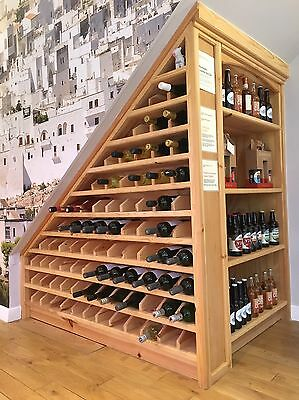 Wine Rack - Solid Wood - Hand Made 90 Bottles.