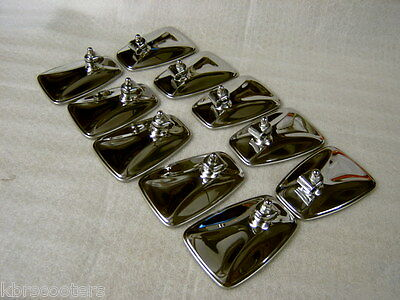 10 Mod Style Chrome Fluted Backed Mirrors